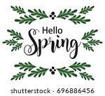 spring card banner illustration | Shutterstock .eps vector #696886456