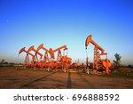 the oil pump  industrial... | Shutterstock . vector #696888592