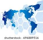 world map vector | Shutterstock .eps vector #696889516