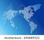 world map vector | Shutterstock .eps vector #696889522