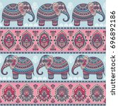 vintage graphic vector indian... | Shutterstock .eps vector #696892186
