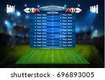 football or soccer playing... | Shutterstock .eps vector #696893005