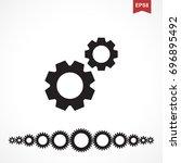 standard gear or cog wheel... | Shutterstock .eps vector #696895492