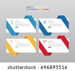 modern info graphic template... | Shutterstock .eps vector #696895516