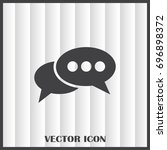 chat icon in trendy flat style... | Shutterstock .eps vector #696898372