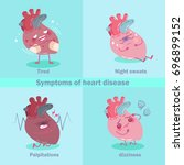 heart with health concept on... | Shutterstock .eps vector #696899152