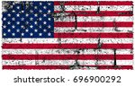 united states of america flag... | Shutterstock . vector #696900292