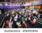 blur of business conference and ... | Shutterstock . vector #696901846