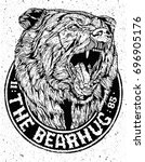 beast bear logo with fang and...   Shutterstock .eps vector #696905176