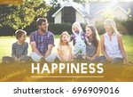 family happiness togetherness... | Shutterstock . vector #696909016