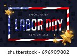 labor day sale promotion... | Shutterstock .eps vector #696909802