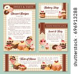 cake and bakery shop banner... | Shutterstock .eps vector #696913288