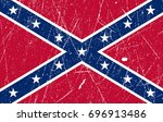flag of the confederate states... | Shutterstock .eps vector #696913486