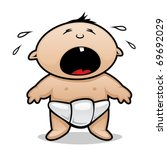 crying baby | Shutterstock .eps vector #69692029