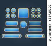 kit for marine game ui... | Shutterstock .eps vector #696925102