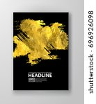 vector black and gold design... | Shutterstock .eps vector #696926098