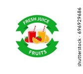 fresh juice fruits logo design...   Shutterstock .eps vector #696929686