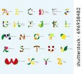 fruits alphabet   Shutterstock .eps vector #696938482