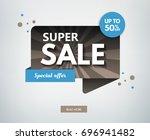 sale banner design. vector... | Shutterstock .eps vector #696941482