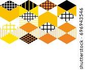 card banner template geometric... | Shutterstock .eps vector #696943546