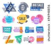 promotion badges  best offer... | Shutterstock .eps vector #696948856