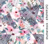 watercolor seamless pattern...   Shutterstock . vector #696949192