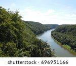 view from the wiesenkreuz ... | Shutterstock . vector #696951166