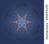 freehand artistic ethnic...   Shutterstock .eps vector #696955192