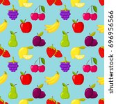 seamless vector pattern with...   Shutterstock .eps vector #696956566
