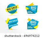 colorful shopping sale banner... | Shutterstock .eps vector #696974212