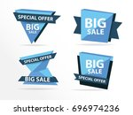 colorful shopping sale banner... | Shutterstock .eps vector #696974236