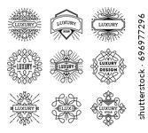 simple mono lines logos... | Shutterstock .eps vector #696977296