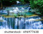 A Cascade Of Water Falling Fro...