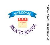 back to school calligraphic... | Shutterstock .eps vector #696979252