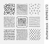 set of hand drawn marker... | Shutterstock .eps vector #696981172