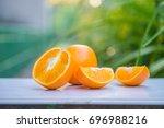 orange  half of orange  orange