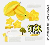star fruit or carambola....   Shutterstock .eps vector #696990226