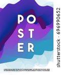 abstract fluid colors trendy... | Shutterstock .eps vector #696990652
