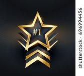 creative star no. 1 winner... | Shutterstock .eps vector #696994456