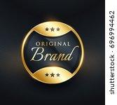 vector original brand golden... | Shutterstock .eps vector #696994462