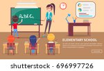 elementary school banner with... | Shutterstock .eps vector #696997726