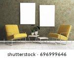 comfortable living room... | Shutterstock . vector #696999646