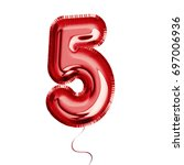 brilliant balloon font number... | Shutterstock .eps vector #697006936