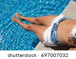 shot of an attractive young... | Shutterstock . vector #697007032