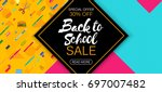 stylish social media and web... | Shutterstock .eps vector #697007482