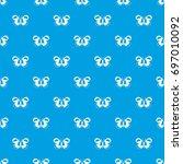 spotted butterfly pattern...   Shutterstock .eps vector #697010092
