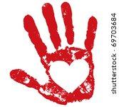 loving hand | Shutterstock .eps vector #69703684