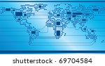 world circuit board | Shutterstock .eps vector #69704584