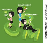 customer relationship management | Shutterstock .eps vector #697046062