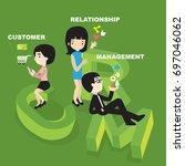 customer relationship management | Shutterstock .eps vector #697046062